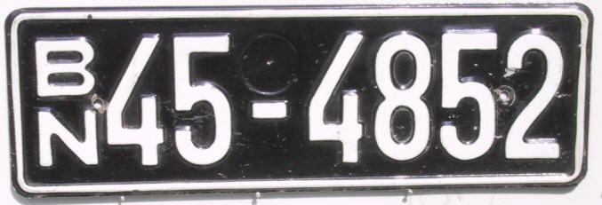 kfz kennzeichen der bundesrepublik deutschland besatzungszonen 1948 56. Black Bedroom Furniture Sets. Home Design Ideas